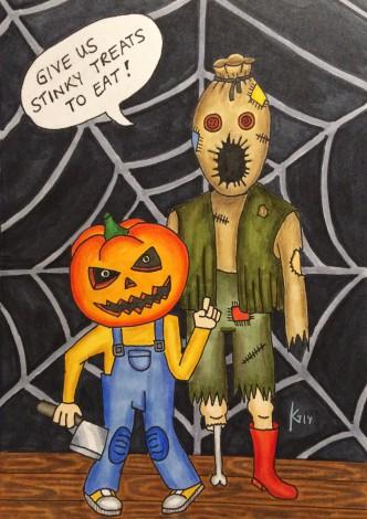 Halloweenparty - Einladungskarte
