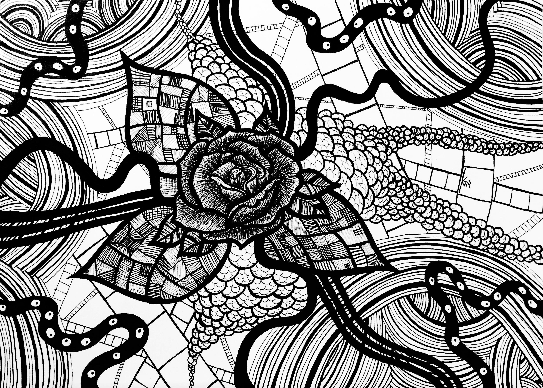 Abstrakte Rose