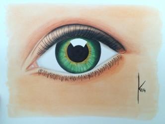 Grünes Auge