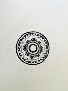 Mandala Schritt 1
