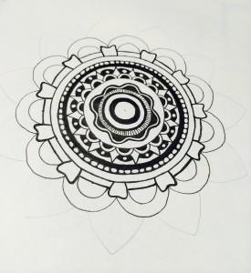 Mandala Schritt 2