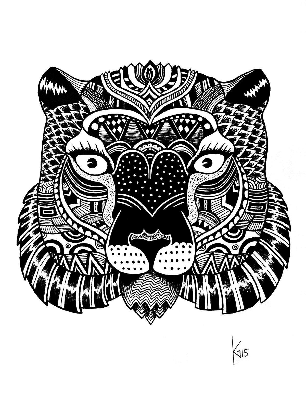 Löwin Tattoomotiv