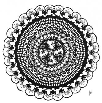 Mandala-mit-Karomuster