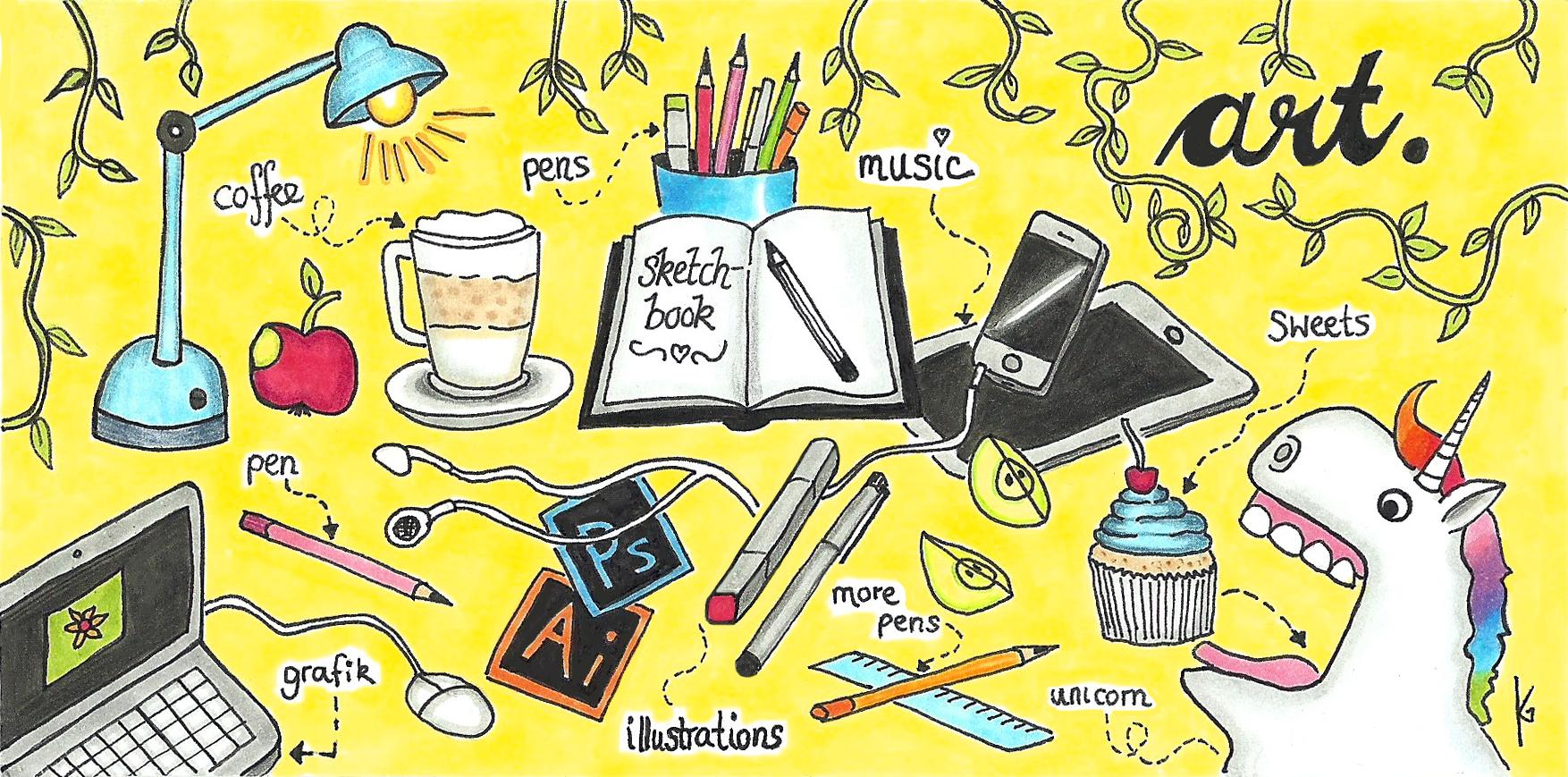 Desk-Illustration